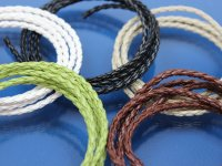 Woven Leather Cord by Meter