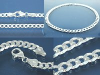 Curb Chain 6-sides diamond cut