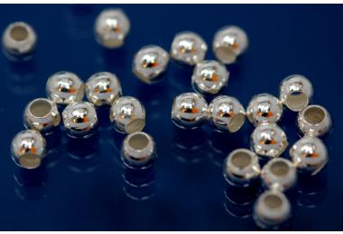 Beads smooth polished special version 3,0mm 925/- Silver