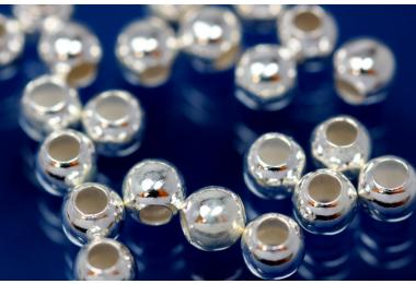 Beads smooth polished special version 4,0mm 925/- Silver