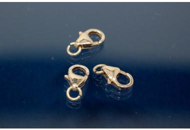 Trigger Clasp with open Ring 8 mm 925/- Silver