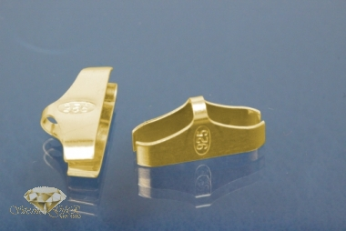 Kautschukenden 925/- Silber vergoldet 15,0mm