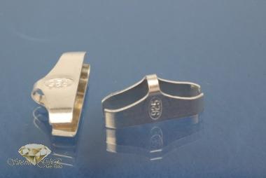 Kautschukenden 925/- Silber 15,0mm