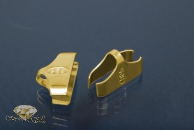 Kautschukenden 925/- Silber vergoldet 12,0mm