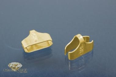 Kautschukenden 925/- Silber vergoldet 10,0mm