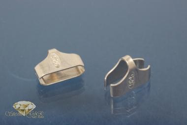 Kautschukenden 925/- Silber 10,0mm