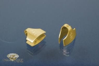 Kautschukenden 925/- Silber vergoldet 8,0mm