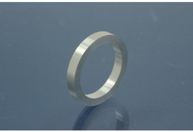 Ring Blanks, 925/- Silver, Width ca. 3mm, Thickness ca. 2,2mm, Size 53