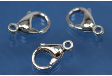 Trigger clasp stainless steel polished 13mm