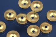 Beads Ø 5mm half cup heavy 925/- Silver gold plated