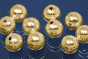 1-Hole-Bead 5,0mm 925/- Silver gold plated