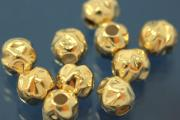Nugget-Bead Ø6,0mm 925/- Silver gold plated