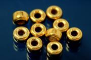 Roundel polished Ø5,0mm 925/- Silver gold plated
