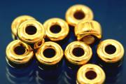 Roundel polished Ø6,0mm 925/- Silver gold plated