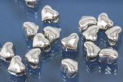 Spacer beads heavy version heart shape 925/- silver, size Maße ca.6,2x5,3x4,0mm, B1,95mm,