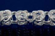 Byzantine Chain width ca. 5,4mm, wire ca. Ø0,9mm, 925/- Silver