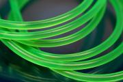 PVC-Rubber cord by meter Ø3mm lightning green