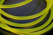 PVC-Rubber cord by meter Ø3mm lightning yellow