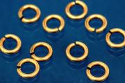 Jump rings round open 4,5mm x 0,8mm 333/- gold