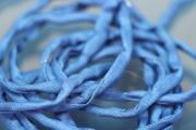 Habotai-Silk-Cord, 110cm long, Ø3mm, dark blue