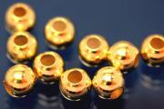 Bead heavy qualitiy 925/- Silver gold plated Ø5mm hole Ø2,2mm