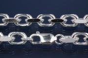 Anchor Chain 925/- Silver diamond cut, width ca. 7,5mm, Length ca. 45cm