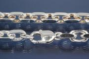 Anchor Chain 925/- Silver diamond cut, width ca. 8,7mm, Length ca. 50cm