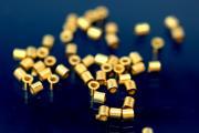 Crimp tube 925/- Silver gold plated long 2,0mm AØ 2,0 IØ 1,0mm