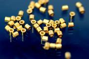 Crimp tube 925/- Silver gold plated long 2,2mm AØ 2,2 IØ 1,2mm