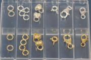 Assembling-Set No.2, apprx. 22 parts, 925/- Silver and 925/- Silver gold plated
