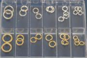 Jump and Split Ring-Set No.1, ca. 32 parts, 925/- Silver and 925/- Silver gold plated