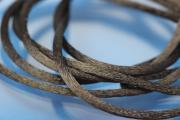 1m Rattail Cord ca. Ø2,2mm, black