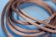 1m Rattail Cord ca. Ø2,2mm, brown