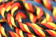 1m silk cord black-red-gold, Ø5mm