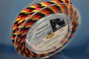3m spool silk cord black-red-gold, Ø5mm