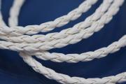 PU-leather-cord woven color white Ø3mm