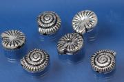 Snail, plastic silver color antique, approx Ø12mm
