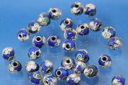 Cloisonne bead Ø6mm royal blue