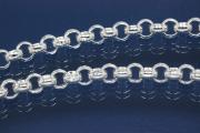 Rolo chain Ø4mm by meter, tight links, 925/- Silver